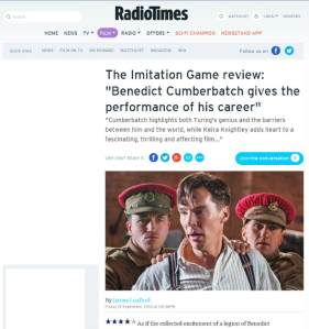 Imitation Game RT