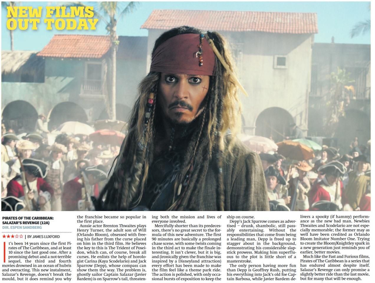 Pirates of The Caribbean Salazar's Revenge