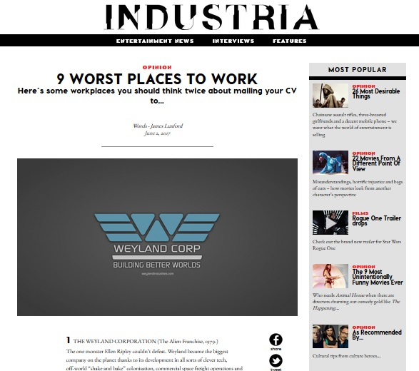 Industria work places