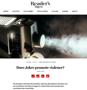 Screenshot_2019-10-28 Does Joker promote violence - Reader's Digest
